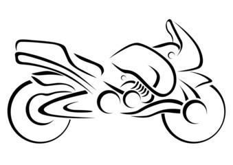 Stylized Motorcycle Vector Illustration