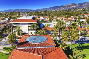 Court House Orange Roofs Mission Santa Barbara California
