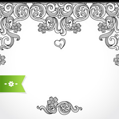 Vector seamless border in Victorian style. Element for design.