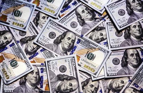 Background of dollar bills for business.