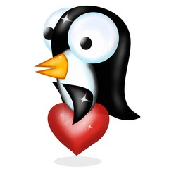 pinguino in amore