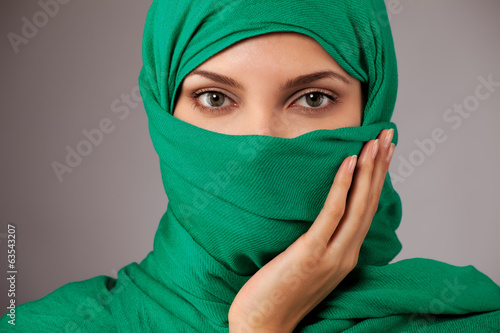 Young arabian woman in hijab