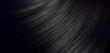 Leinwandbild Motiv Black Hair Blowing Closeup