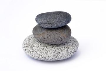 Zen stones isolated