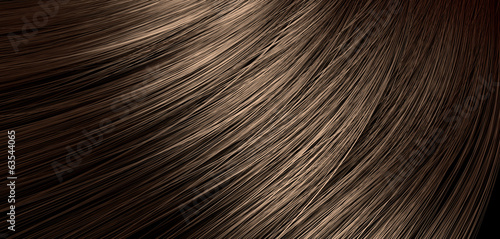 Brown Hair Blowing Closeup - 63544065