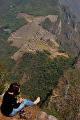 Peru - Machu Picchu, aerial view