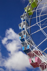 portion of ferris wheel against Sky