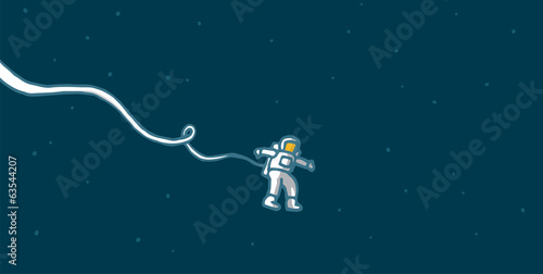 Lonely astronaut in space