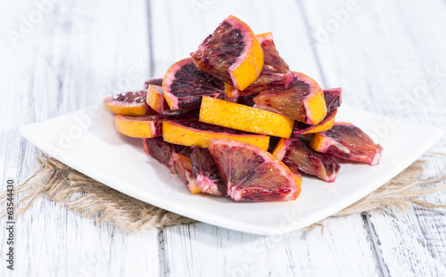Blood Oranges on wood