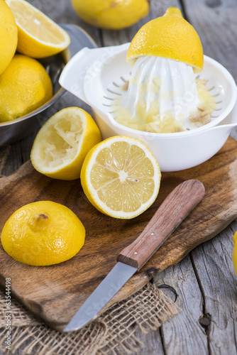 Fresh made Lemon Juice