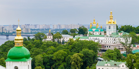 View of Kiev Pechersk Lavra, UNESCO heritage site