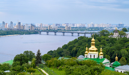 View of the Dnieper from Kiev Pechersk Lavra - Ukraine