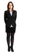 canvas print picture - Smiling full length businesswoman