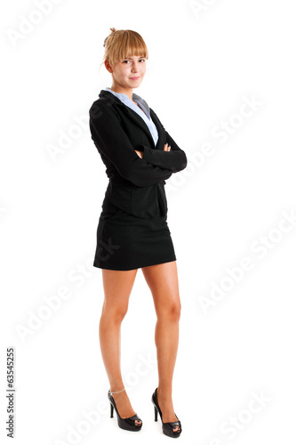 Full length young businesswoman