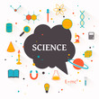 Vector Illustration of a Science Background