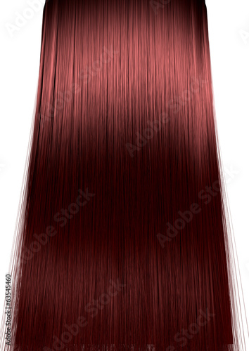 canvas print picture Red Hair Perfect Straight