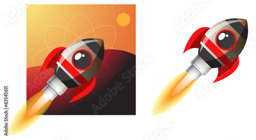 Super Fast Rocket - Illustration