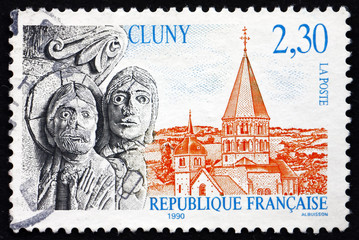 Postage stamp France 1996 View of Cluny