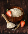organic oat flakes with strawberries - a healthy diet