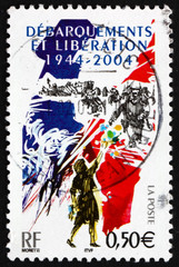 Postage stamp France 2005 D-Day Invasion of France