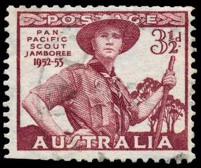 Stamp printed in Australia shows Pan-Pacific Scout Jamboree