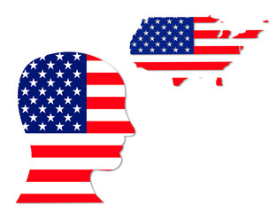 American symbols: population and map
