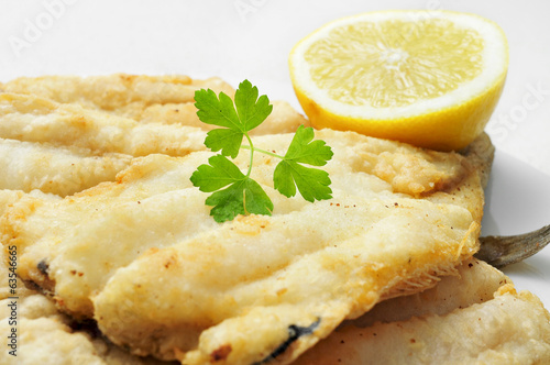 battered and fried hake