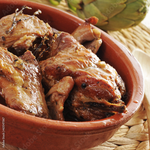 spanish roast rabbit