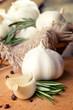 Garlic, rosemary