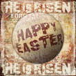 Happy Easter He is risen Religious Background