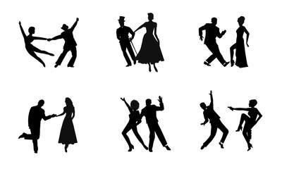 dancers in landscape format in silhouette