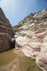 Rocky mountain canyon in a desert