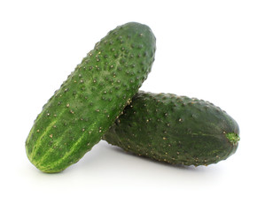 Two cucumbers with pimples