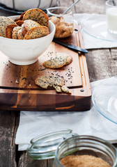 Cookies with Sesame Seeds as breakfast