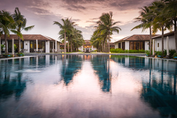 Beautiful view of resort in Vietnam, Asia.