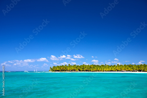 Tropical beach in Caribbean Sea, Dominican Republic