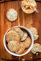 Cookies with Black Sesame Seeds, top view
