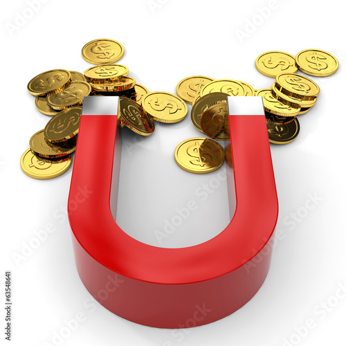 Magnet with coins.