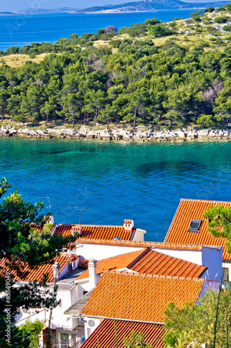 Rooftops, sea and stone islands