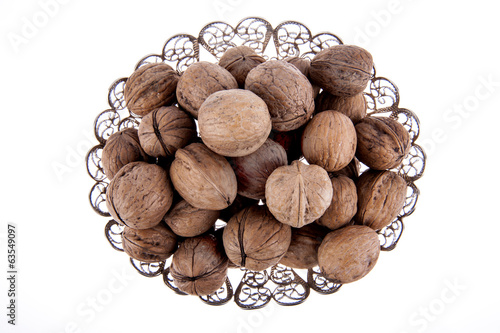 Walnuts in basket