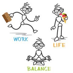 Stickman, work life balance.