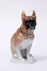 Pug  Dog ceramic figurine