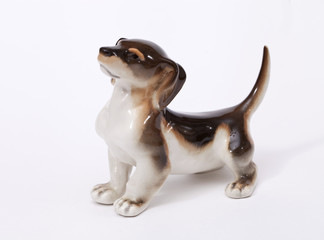 German badger Dog ceramic figurine