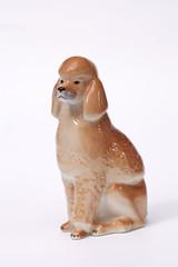 Poodle Dog ceramic figurine