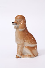 Poodle Dog ceramic figurine