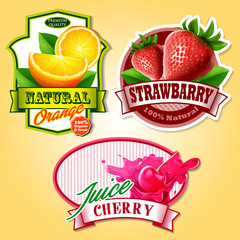 fruit badges and stickers