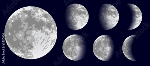 Fototapeta Moon phases. Vector illustration.