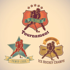 Ice hockey labels
