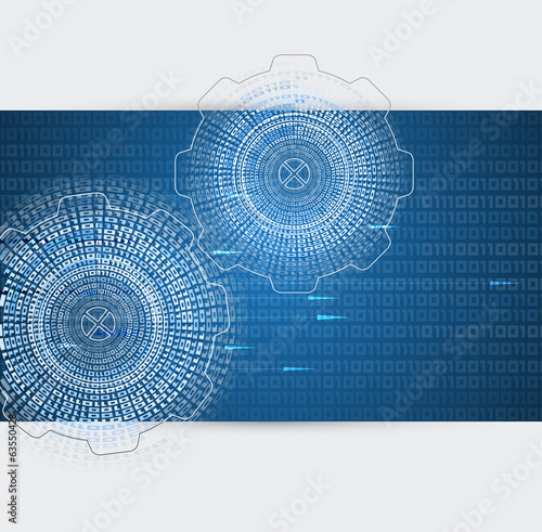 abstract retro digital computer technology business background