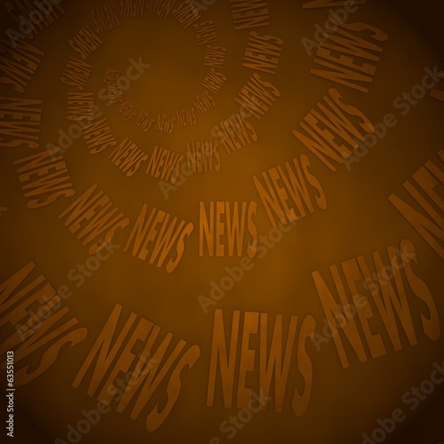 3d graphic of a vintage news label  on vintage background